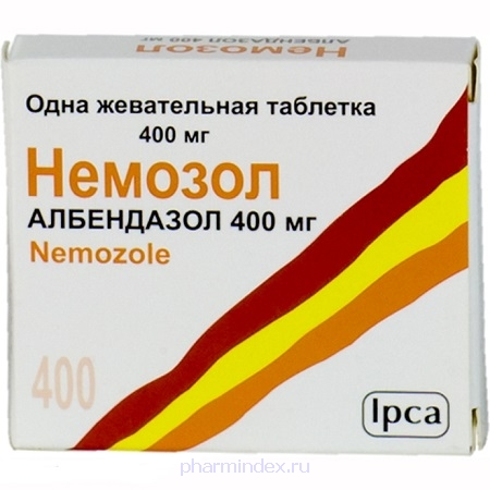 НЕМОЗОЛ таб. п/обол. 400мг №1