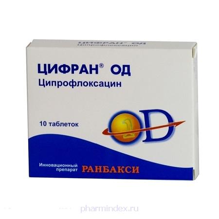 ЦИФРАН ОД (Ципрофлоксацин)