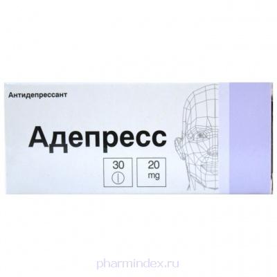 АДЕПРЕСС (Пароксетин)