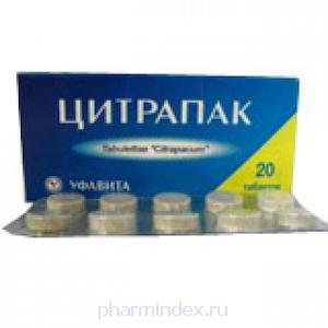 ЦИТРАПАК (Ацетилсалициловая кислота+Кофеин+Парацетамол+Аскорбиновая кислота)