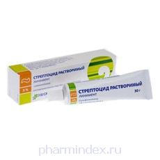 СТРЕПТОЦИДА РАСТВОРИМОГО ЛИНИМЕНТ (Сульфаниламид)