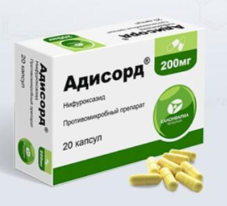 АДИСОРД (Нифуроксазид)