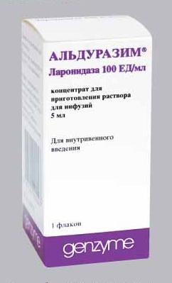 АЛЬДУРАЗИМ конц. д/инф. 100ЕД/мл фл. 5мл №1