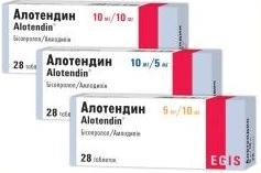 АЛОТЕНДИН (Бисопролол+Амлодипин)