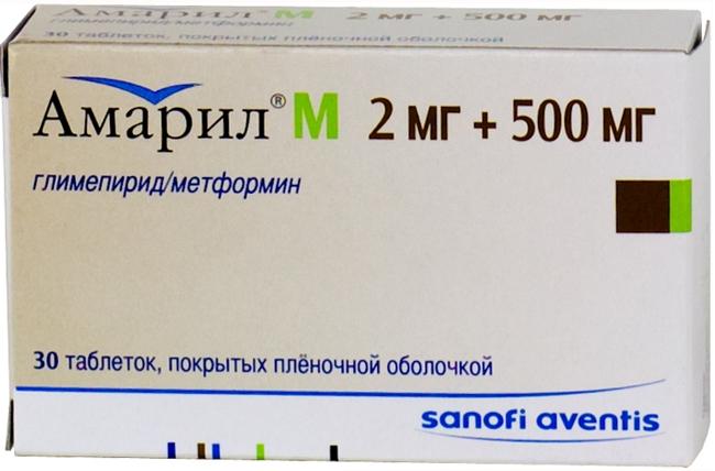 АМАРИЛ М (Глимепирид+Метформин)