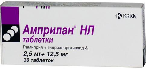 АМПРИЛАН НЛ (Гидрохлоротиазид+Рамиприл)