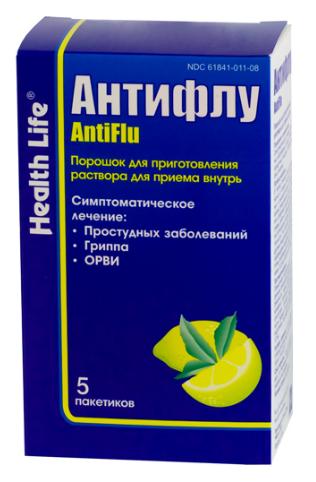 АНТИФЛУ (Парацетамол+Фенилэфрин+Хлорфенамин)