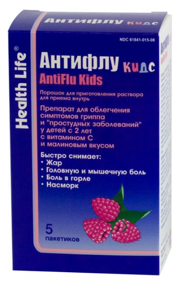 АНТИФЛУ КИДС (Парацетамол+Хлорфенамин+Аскорбиновая кислота)