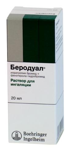 БЕРОДУАЛ (Ипратропия бромид+Фенотерол)