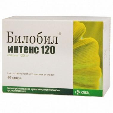 БИЛОБИЛ ИНТЕНС 120 (Гинкго двулопастного листьев экстракт)