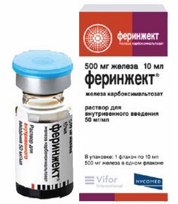ФЕРИНЖЕКТ (Железа карбоксимальтозат)
