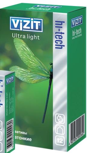 ПРЕЗЕРВАТИВЫ VIZIT (ВИЗИТ) HI-TECH Ultra light Ультратонкие №12