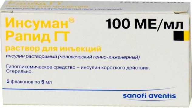 ИНСУМАН РАПИД ГТ (Инсулин растворимый (человеческий генно-инженерный))