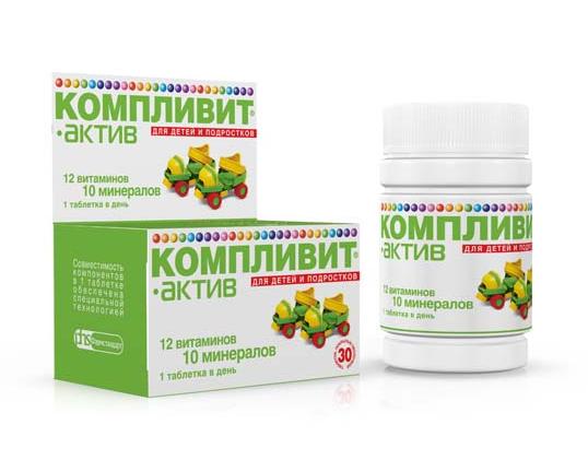 КОМПЛИВИТ-АКТИВ таб. п/обол. №60