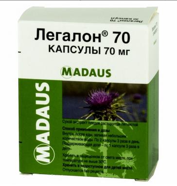 ЛЕГАЛОН 70 (Расторопши пятнистой плодов экстракт)