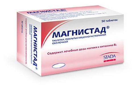 МАГНИСТАД (Магния лактат+Пиридоксин)