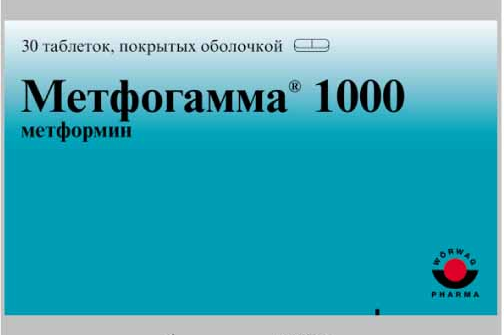 МЕТФОГАММА 1000 (Метформин)