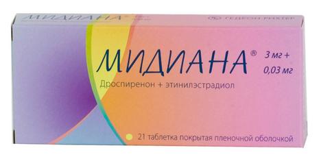 МИДИАНА (Дроспиренон+Этинилэстрадиол)
