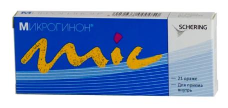 МИКРОГИНОН (Этинилэстрадиол+Левоноргестрел)