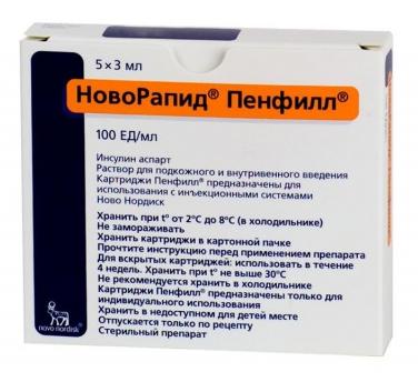 НОВОРАПИД ПЕНФИЛЛ (Инсулин аспарт)
