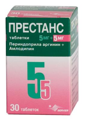 ПРЕСТАНС (Амлодипин+Периндоприл)