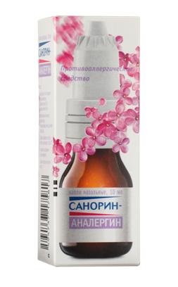 САНОРИН-АНАЛЕРГИН (Антазолин+Нафазолин)