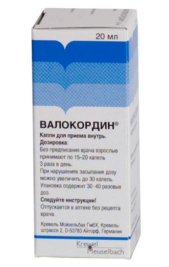 ВАЛОКОРДИН (Фенобарбитал+Этилбромизовалерианат+Мятное масло+Хмелевое масло)