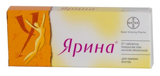 ЯРИНА (Дроспиренон+Этинилэстрадиол)